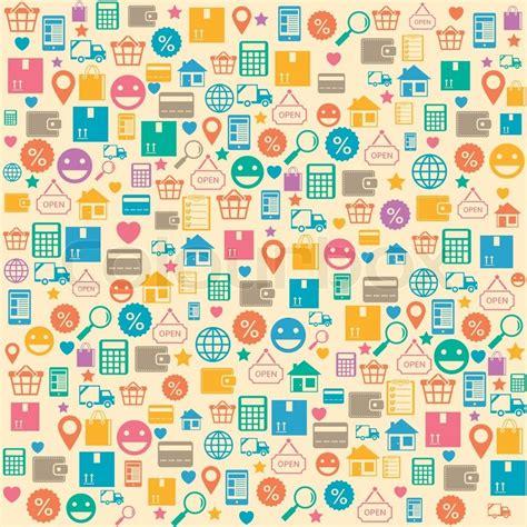 ecommerce  shopping seamless background pattern