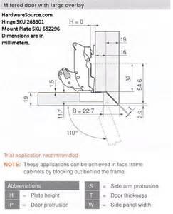 Blum Cabinet Hinges 110 by Blum 155 Degree Straight Arm Hinge Hardwaresource Com