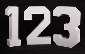 individual numbers 24quot high cut from uncoated styrofoam With 24 inch foam letters