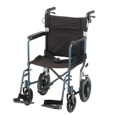 19 inch lightweight transport chair with brakes by