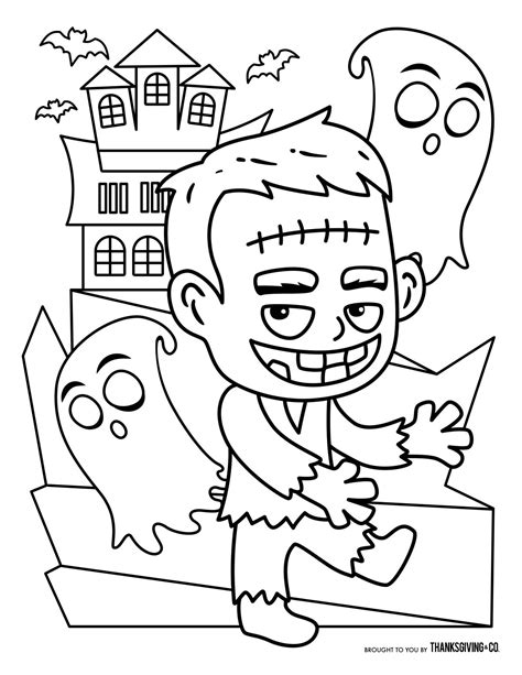 Free Halloween coloring pages for kids (or for the kid in you)