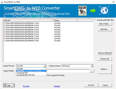 The total number of formats that we can convert: SmartDWG DWG to WEB Converter Download