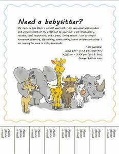 Babysitter Flyer Sample Babysitting Flyers And Ideas 16 Free Templates