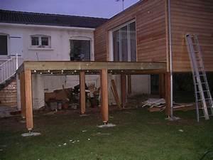 terrasse sur pilotis prix au m2 nos conseils With comment faire une terrasse bois sur pilotis