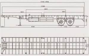 Trucks, In, China, Container, Flatbed, Semi, Trailer, Flatbed, Trailer