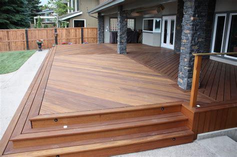 exotic decking stairs  railing traditional deck calgary  kayu canada