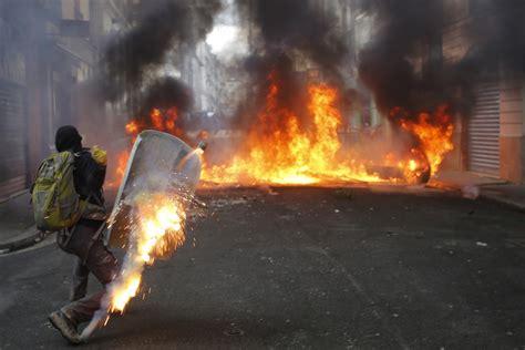 france blames violent protests  nantes airport