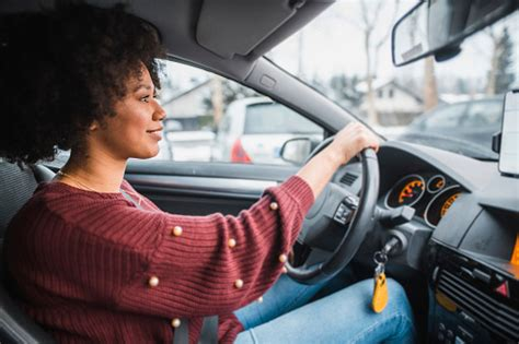 young african american woman driving  car stock photo  image  istock