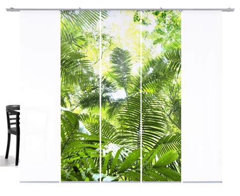 Fernwehkollektion Dschungel Grün Schiebegardine 5teiliges