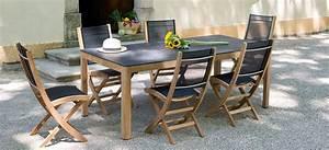 Mobilier Pas Cher : magasin mobilier exterieur table de jardin teck pas cher ~ Melissatoandfro.com Idées de Décoration