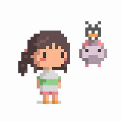 Pixel Ghibli Studio Giphy Sticker Cheng Kye