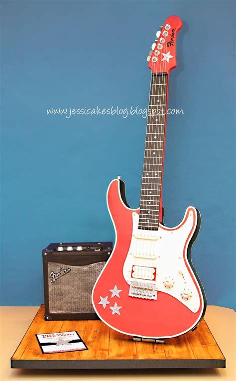 amazing cake jessicakes stand  electric guitar cake