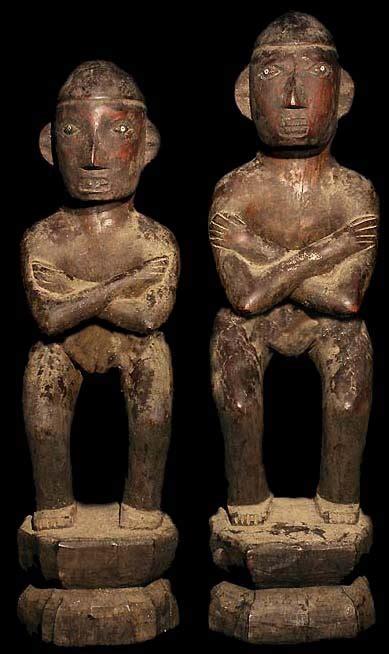 ifugao bulul rice god statue pair david howard tribal art
