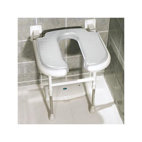 siege salle de bain siège rabattable matelassé en forme de u pour la salle de bain