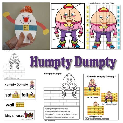 nursery rhymes activities crafts lessons and printables 101 | Humpty Dumpty Activities