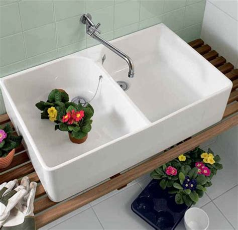 wessan kitchen sinks villeroy boch bowl ceramic butler sink with wall 3381