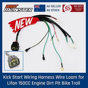 Kick Start Wiring Harness Wire Loom For Lifan 150cc Engine Dirt Pit Bike Trail