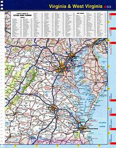 Map Of Virginia  Detailed Road Map Of The State Of