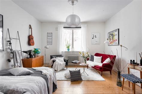 Tiny Scandinavian Studio Loft by Tiny But Creative Scandinavian Apartment Daily