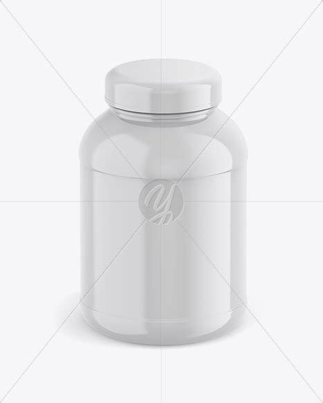 This mockup is available for purchase on yellow images only. Download Metallic Protein Jar With Paper Label Mockup PSD ...