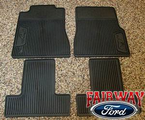 05 06 07 08 09 Mustang OEM Ford Black Rubber All Weather Floor Mat Set 4-pc NEW | eBay