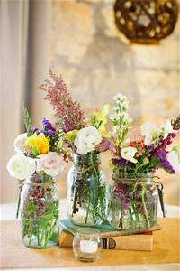21 idees de deco de mariage avec des pots en verre de With déco chambre bébé pas cher avec bouquet fleurs anniversaire