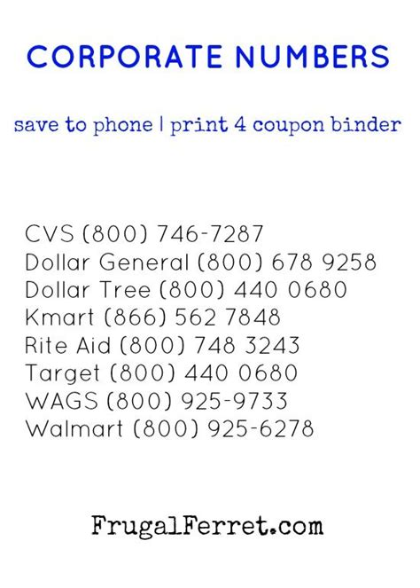 corporate phone number 17 best images about coupons on sunday coupons