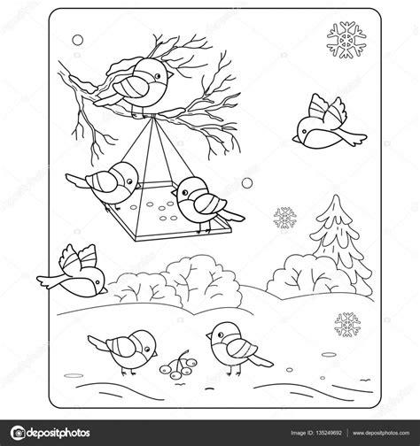 Kleurplaat Vogels In De Winter by Kleurplaat Pagina Overzicht De Vogels In De