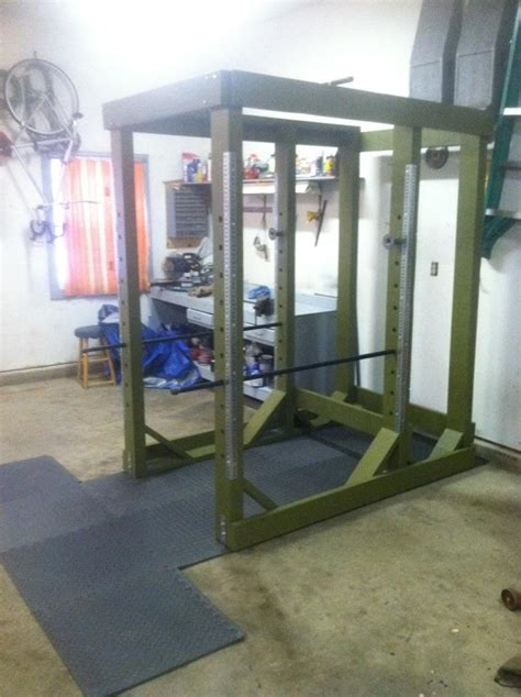 rack power homemade gym diy wood equipment wooden dimensions crossfit weight workout rig bodybuilding training building bench exercise press under