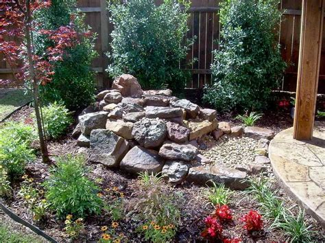 gravel landscape ideas ideas gravel ideas for backyard landscaping with wooden pole backyard gravel ideas for