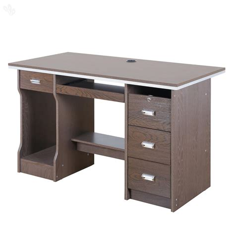 buy royaloak acacia office table with honey brown finish 1 2 m from india 39 s most