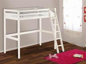 Lit Bureau Enfant : lit mezzanine gedeon pin massif options bureau matelas ~ Teatrodelosmanantiales.com Idées de Décoration