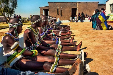 Ndebele Boys Returning from Initiation School, South Afric