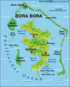 Bora Bora French Polynesia Map