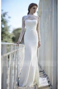High Neck Long Sleeve Lace Wedding Dress