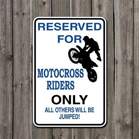 metal parking sign reserved  motocross