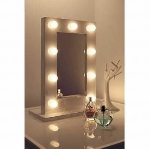 Miroir Lumineux Maquillage : 70 sur miroir de maquillage hollywood blanc lampes led blanc chaudes k217ww achat prix fnac ~ Teatrodelosmanantiales.com Idées de Décoration