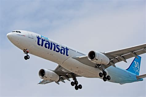 c gkts air transat airbus a330 300 with 30 year anniversary livery