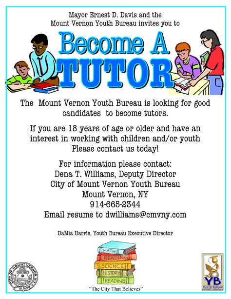 Technic Bureau Service Flyers by Last Week To Apply For Open Tutor Positions City Of