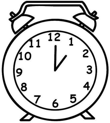 clock coloring page timer coloring pages