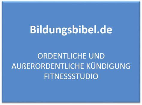 kuendigung fitnessstudio vorlage muster kuendigen