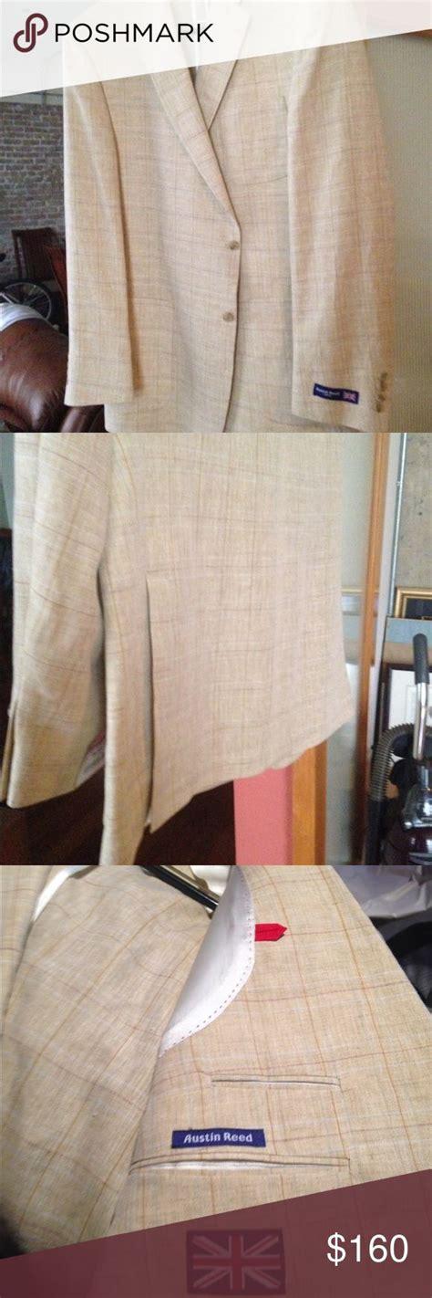 brand  austin reed  long  linen blazer linen