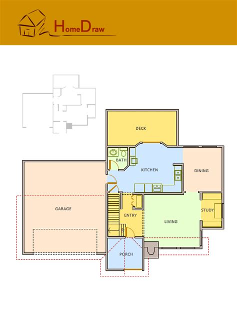 house plan drawings floor plans solution conceptdraw com