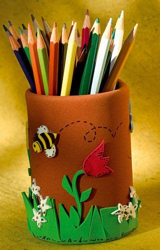 Bote para lápices de colores en goma eva GOMA EVA