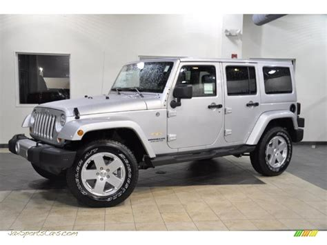 2011 Jeep Wrangler Unlimited Sahara 4x4 In Bright Silver