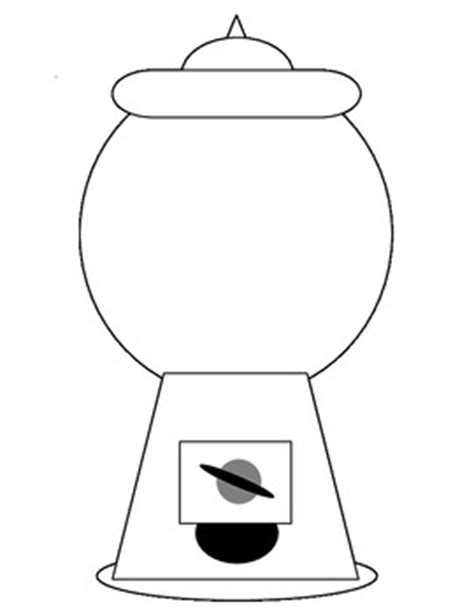gumball machine template gum black and white clipart clipart suggest