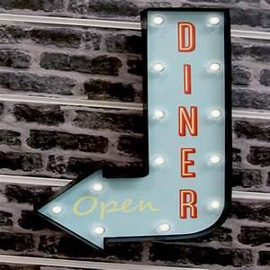 Decoration Lumineuse Murale : d coration murale lumineuse fl che diner bleu ~ Teatrodelosmanantiales.com Idées de Décoration