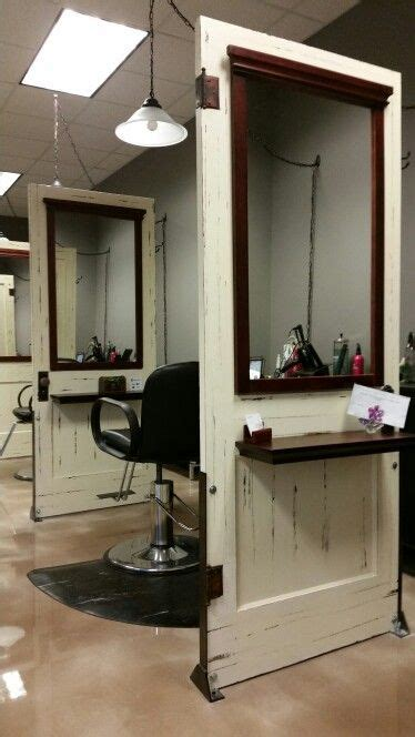 Ideas Salon Station by Salon Stations Made With Antique Repurposed Doors At