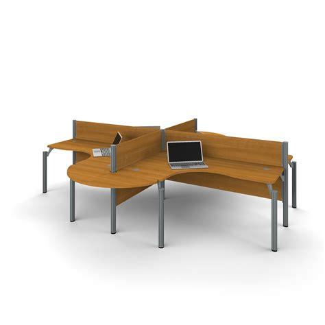 Probiz Four Ldesk Workstation With Rounded Corners In. Gold Table Cloth. Rolling End Table. Shoal Creek Desk. Green Office Desk Lamp. Diy Vanity Desk. By The Desk. Rectangular Table Sizes. Metal Shop Desk