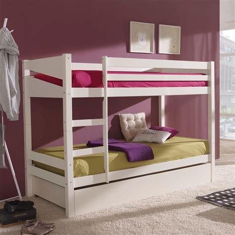 lits superpos 233 s en bois 90x190cm avec sommiers et tiroir de lit owenn port offert